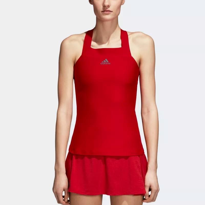 Camiseta de tirantes Adidas Barricade Roja 2018