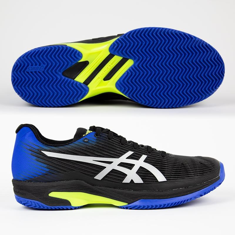 Zapatillas Asics Solution Speed FF Clay Black / Blue 2019