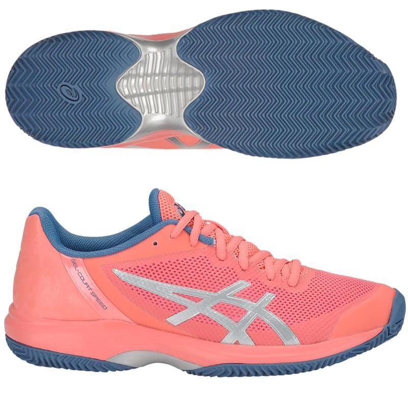 Zapatillas ASICS Gel Court Speed Clay Woman Papaya 2019