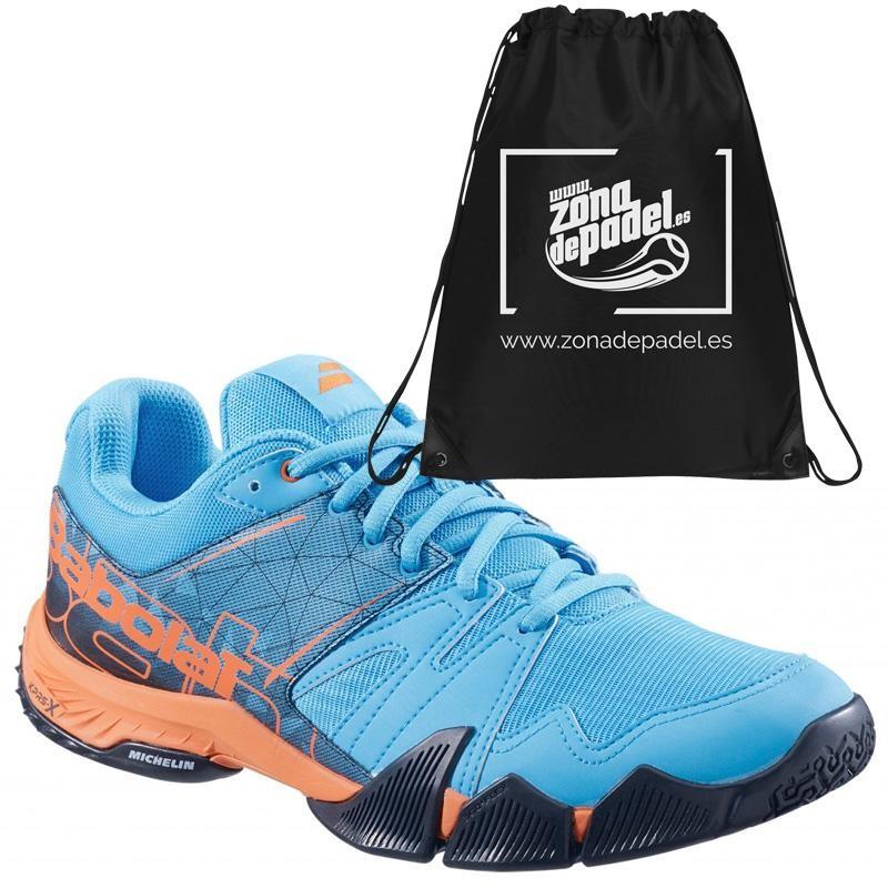 Zapatillas Babolat Pulsa Blue Orange 2019