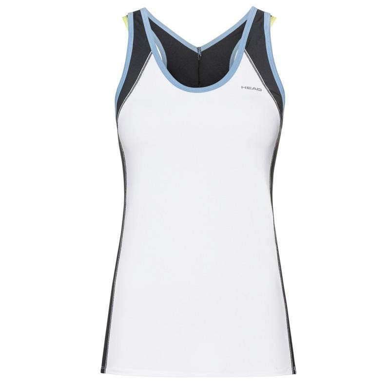 Camiseta Head Talia Tank Top White Blue 2019