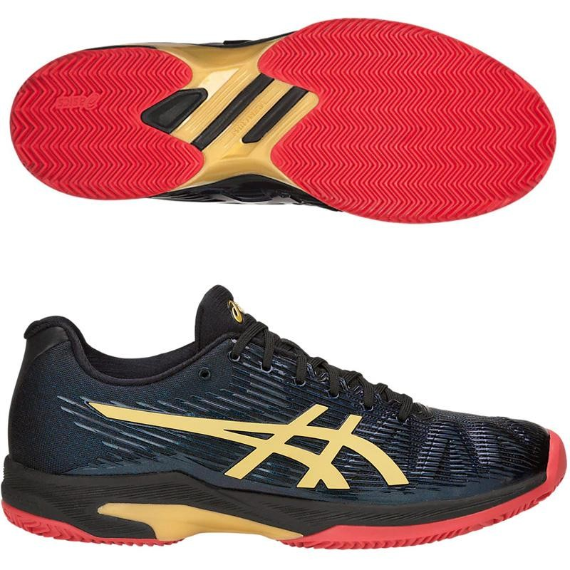Zapatillas Asics Solution Speed FF LE Clay Black Rich Gold 2019