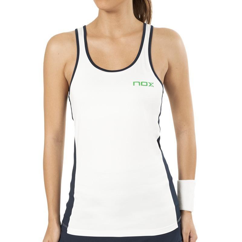 Camiseta de Tirantes Nox  Pro Blanco Logo Verde 2019