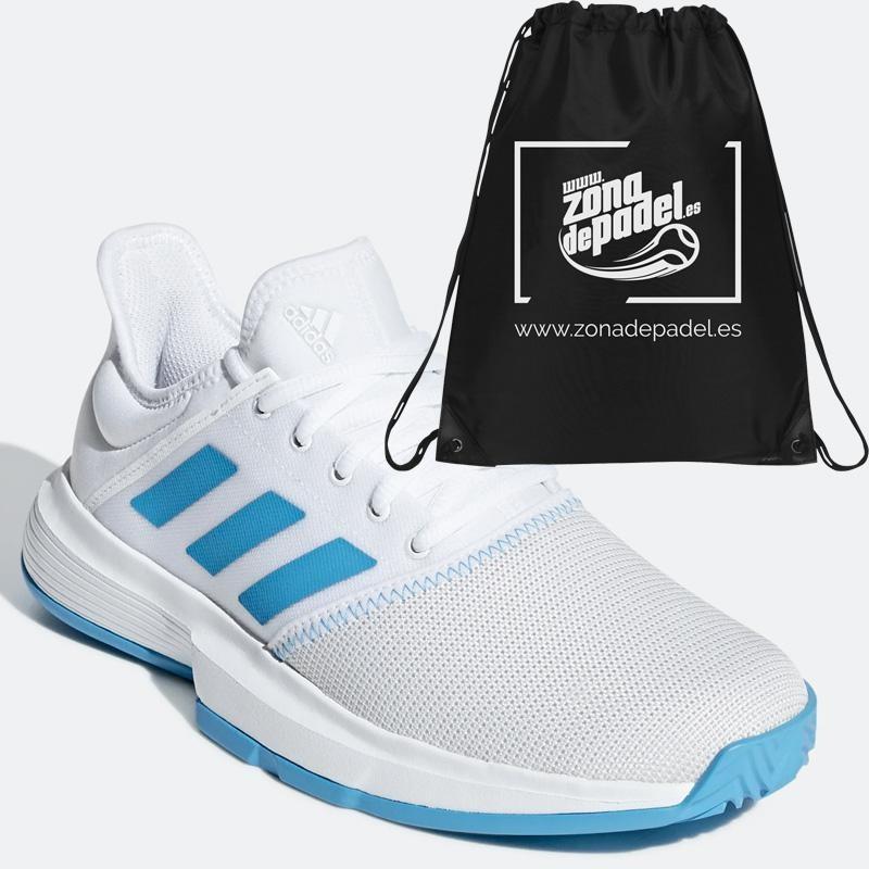 Zapatillas Adidas Game Court W White Shock Cyan 2019