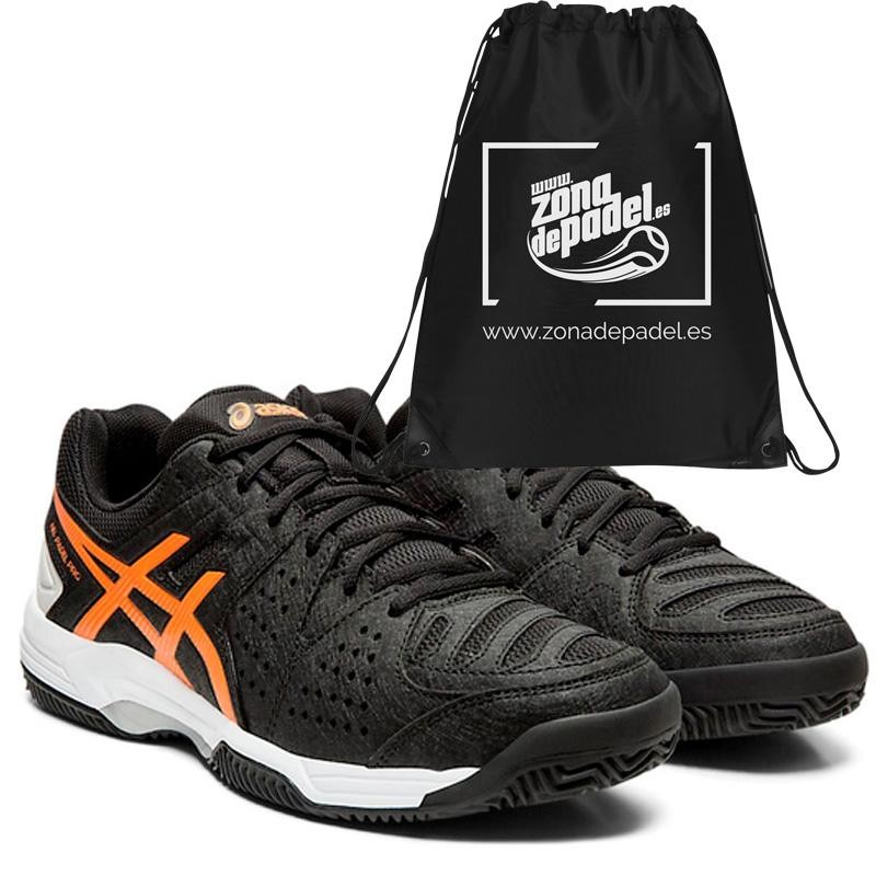 Zapatillas Asics Gel Padel Pro 3 SG Black Flash Coral 2019