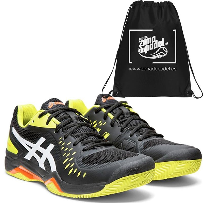 Zapatillas Asics Gel Challenger 12 Clay Black Sour Yuzu 2019