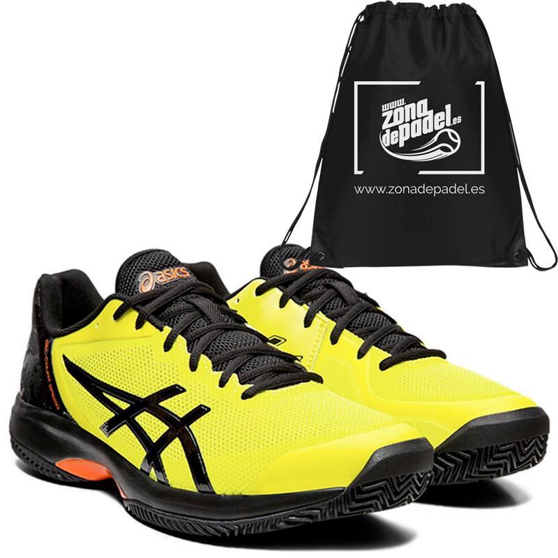Zapatillas gel court speed clay sour yuzu black 2019