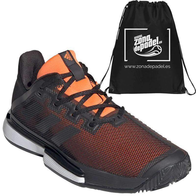 Zapatillas Adidas Sole Match Bounce Clay Black Orange 2019