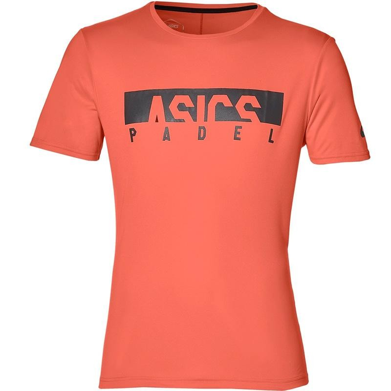 Camiseta Asics Padel M GPX SS Tops Flash Coral