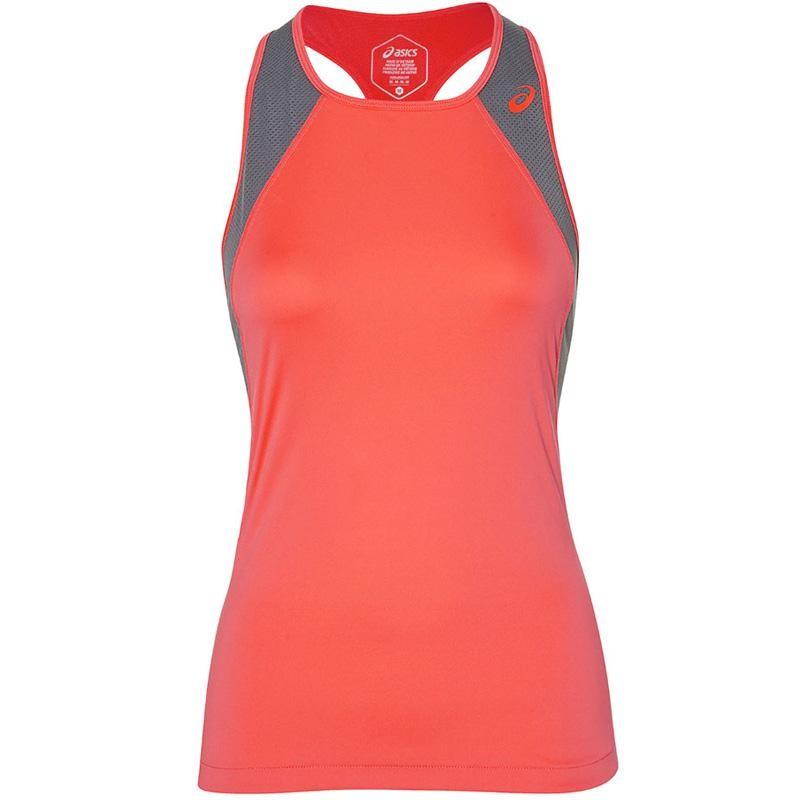 Camiseta Asics Mujer Club Padel Tank Flash Coral