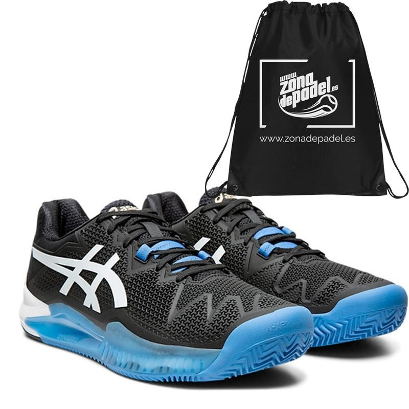 Asics Gel Resolution 8 Clay Black White 2020