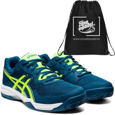 AsicsAsics Gel Padel Pro 4 SG Mako Blue Safety Yellow 2020