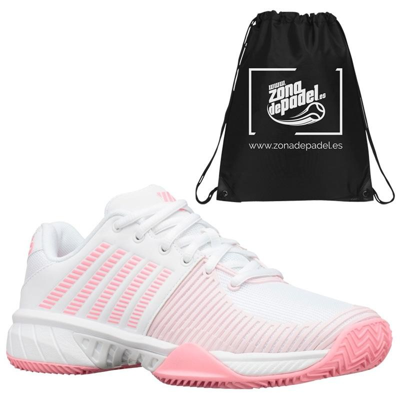 Zapatillas Kswiss Express Light 2 HB White Neon Pink 2020