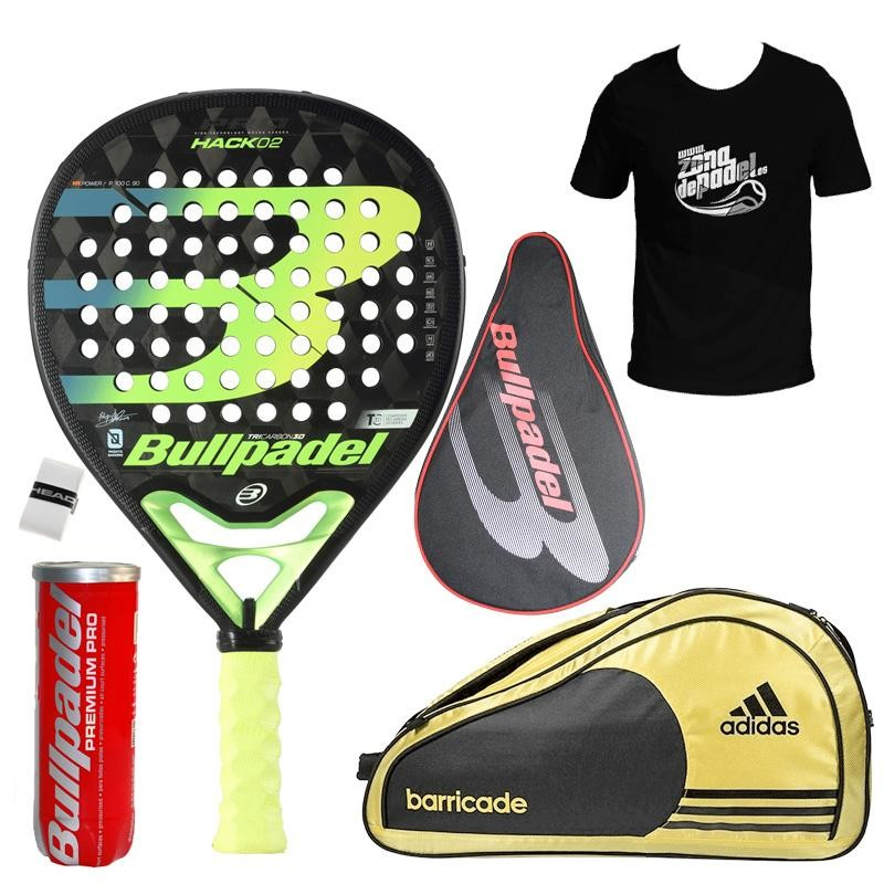 Pack Bullpadel Hack 02 + Paletero 2020