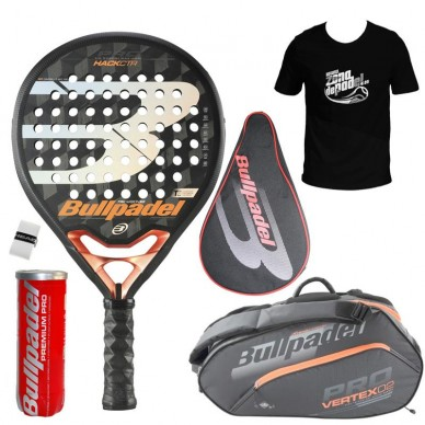 BullpadelPack Bullpadel Hack CTR 02 + Paletero 2020