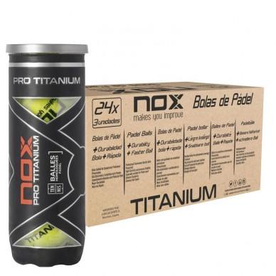 NoxCajón Pelotas Nox Pro Titanium 24 x 3