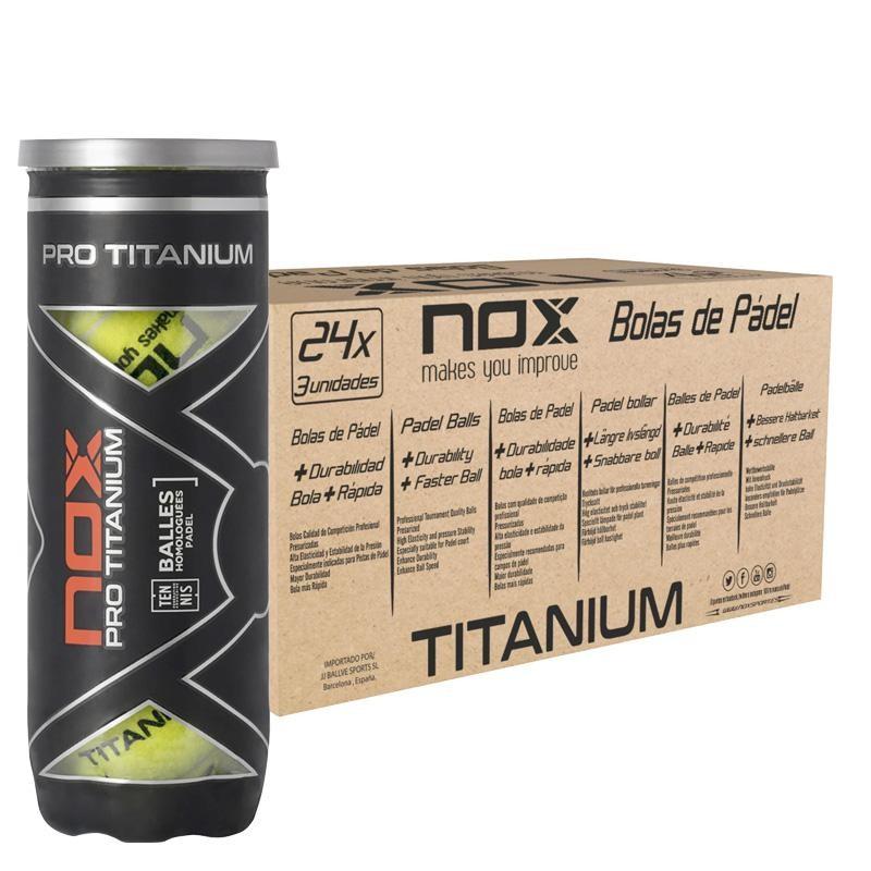 Cajón Pelotas Nox Pro Titanium 24 x 3