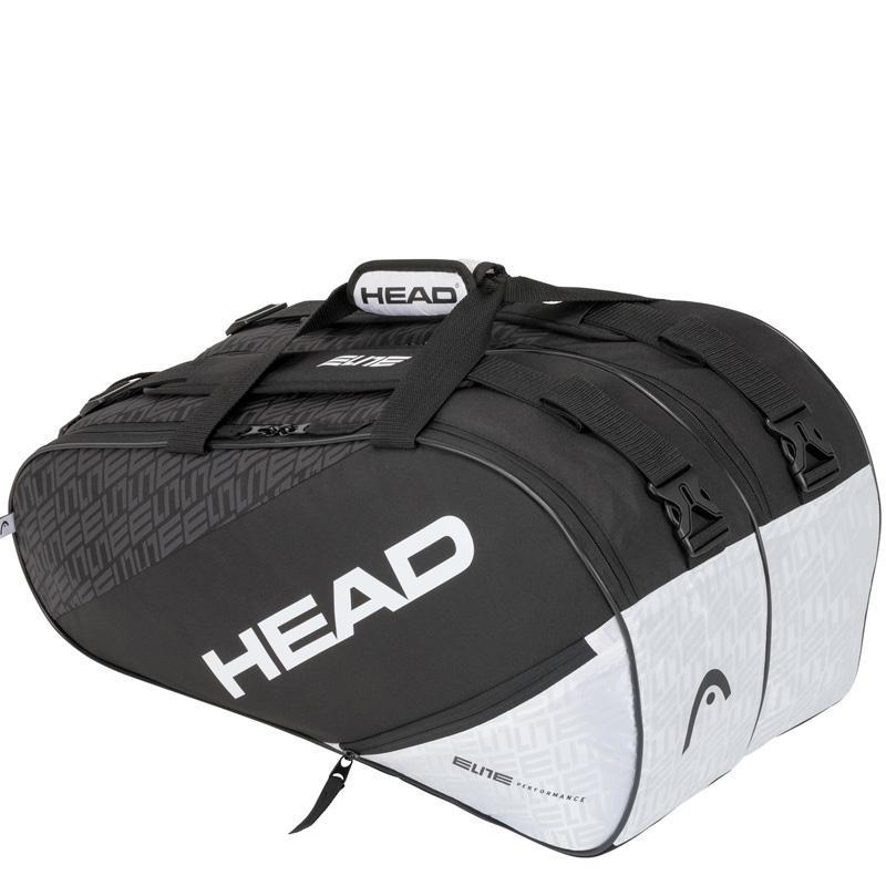 Paletero Head Elite Padel Supercombi Black White 2020