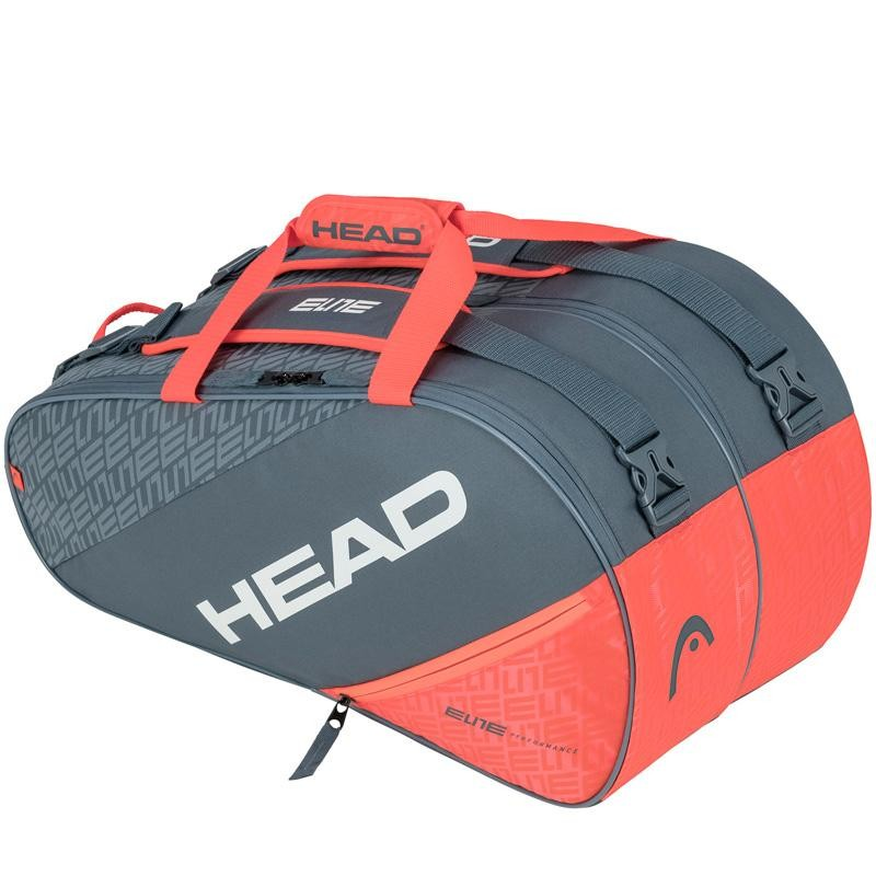Paletero Head Elite Padel Supercombi Grey Orange 2020