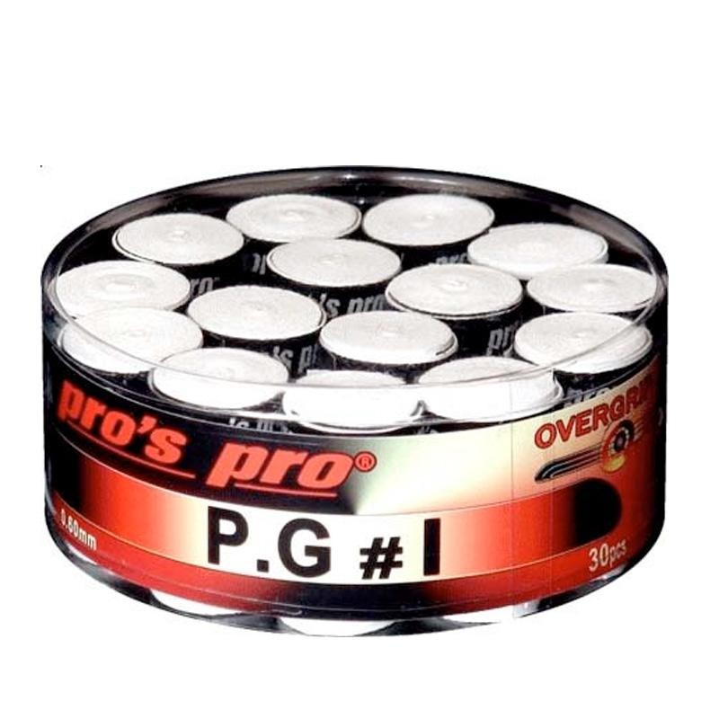 Overgrips Pros Pro P.G.1 30 Unidades Microperforados Blancos