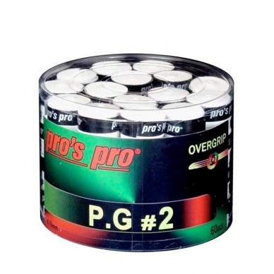 Pros ProOvergrips Pros Pro P.G.2 Cubo 60 Microperforados Blancos