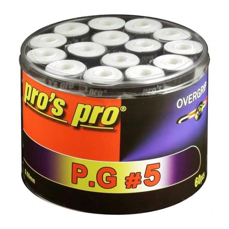Overgrips Pros Pro P.G.5 60U Finos Perforados Blancos