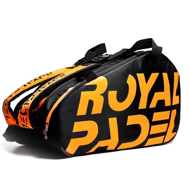 Paletero Royal Padel Negro Naranja 2020
