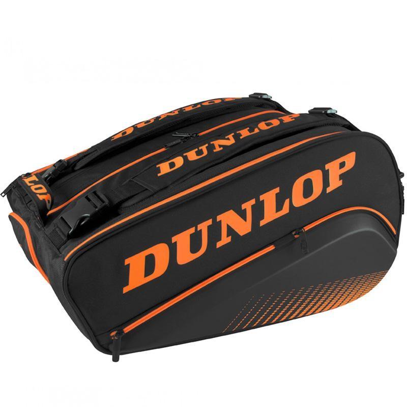 Paletero Dunlop Termo Elite Negro y Naranja 2020