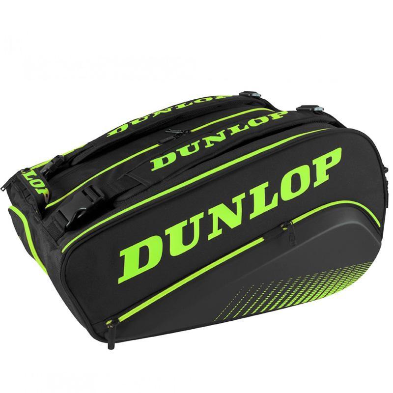 Paletero Dunlop Termo Elite Negro y Verde 2020