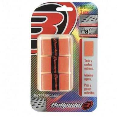 BullpadelOvergrips Bullpadel Microperforados GB1705 Naranja Flúor