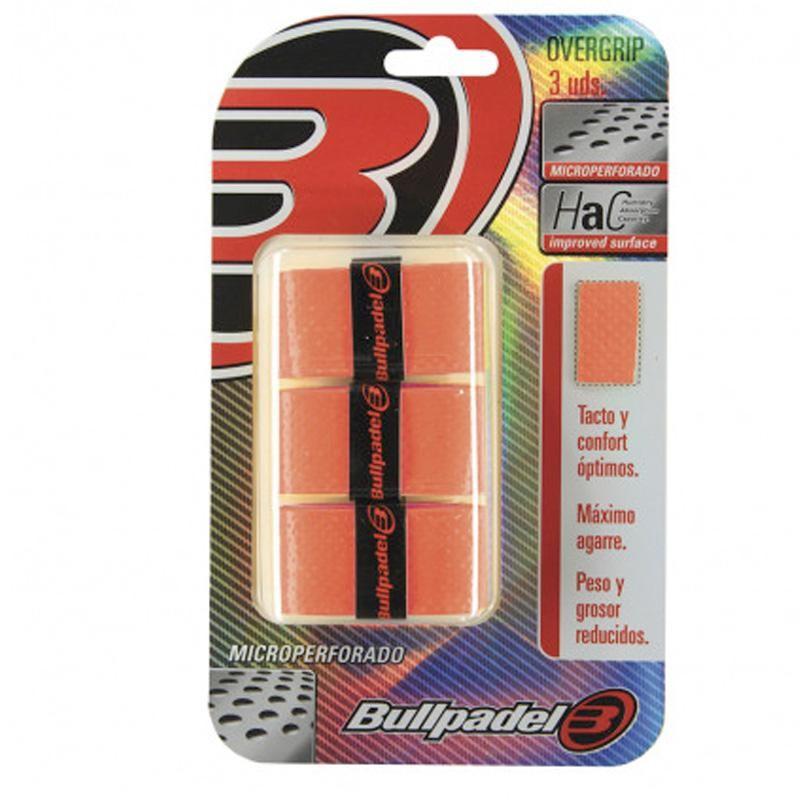 Overgrips Bullpadel Microperforados GB1705 Naranja Flúor