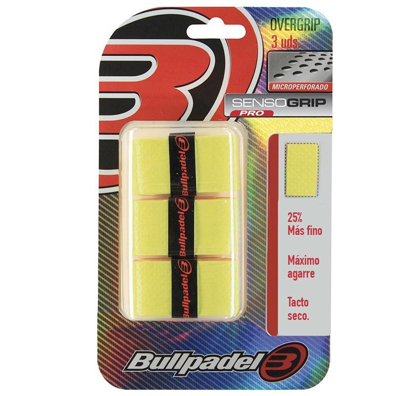 Overgrips Bullpadel Microperforados GB1705 Amarillo Flúor