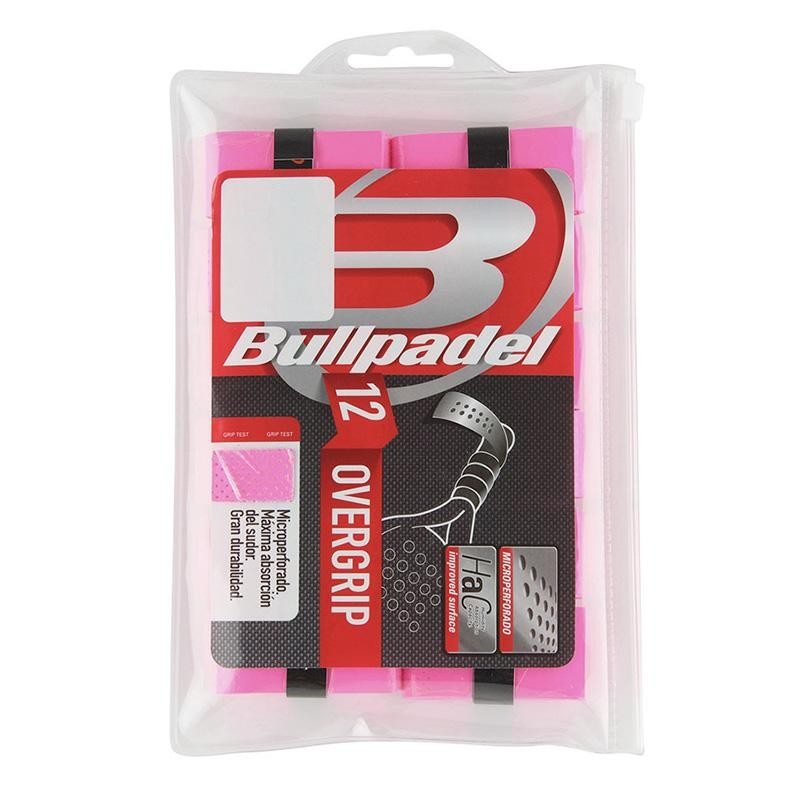 Overgrips Bullpadel GB1601 Perforados Pack 12 Rosas