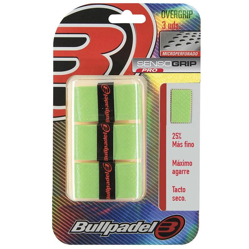 Overgrips Bullpadel Sensogrip Microperforados GB1705 Verdes