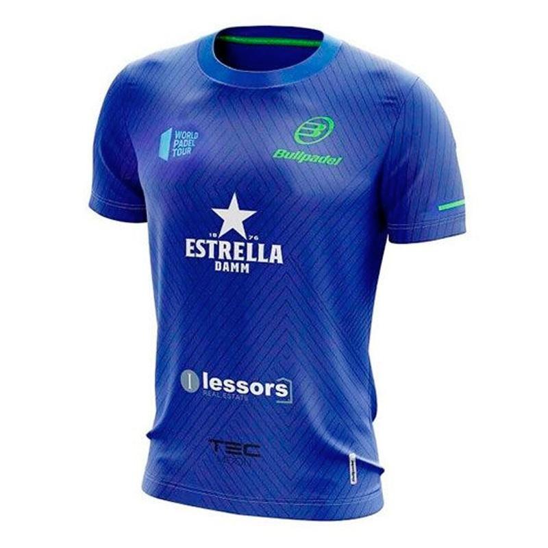 Camiseta Bullpadel Tanos Azul Real 2020
