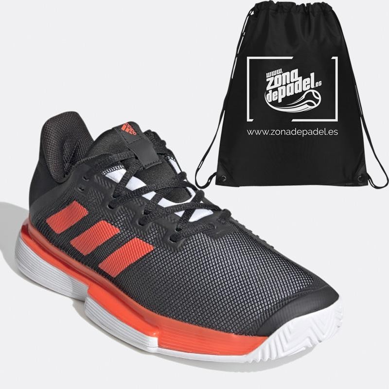 Zapatillas Adidas Sole Match M Bounce Negras Rojas 2020