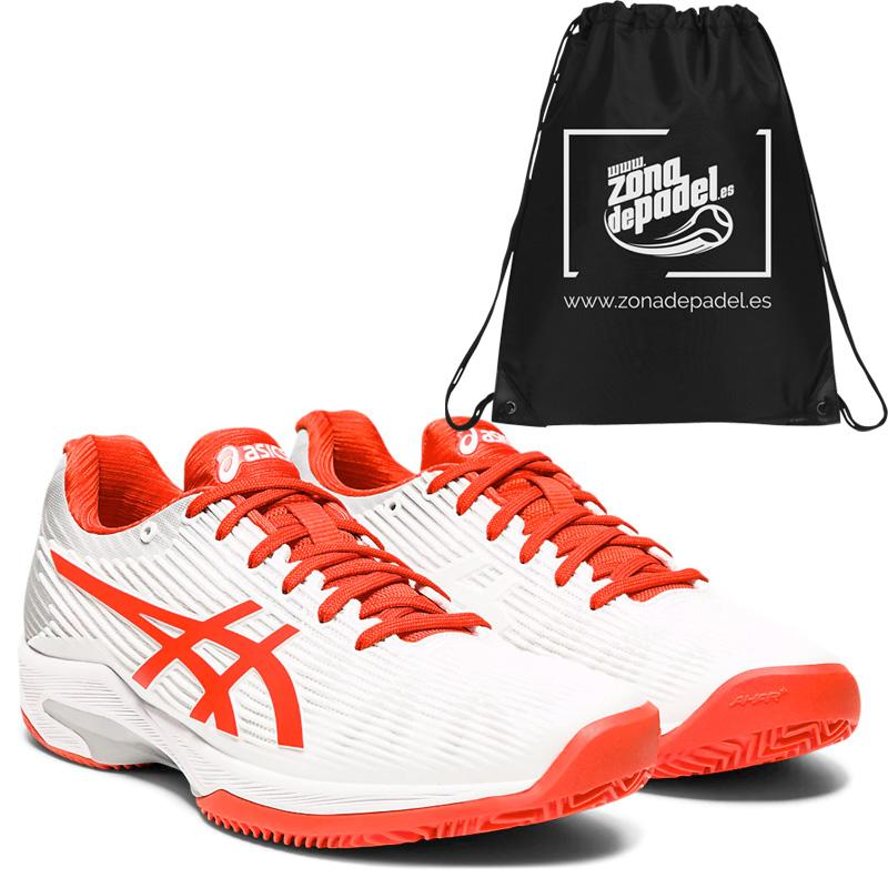Asics gel solution speed ff clay white fiery red 2020