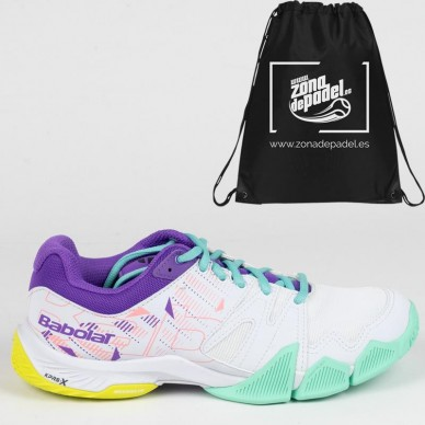 BabolatBabolat Pulsa Woman White Royal Lilac 2020