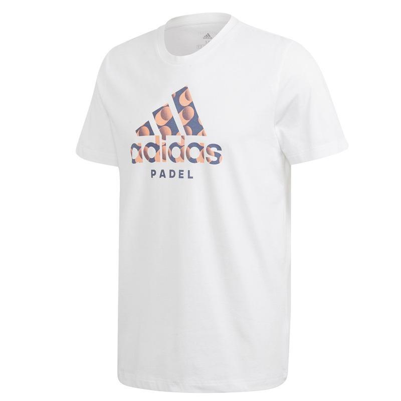 Camiseta Adidas Padel Logo Blanco 2020