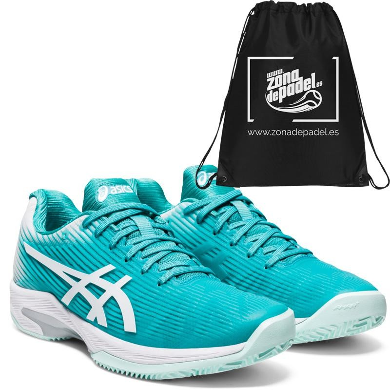 Asics Gel Solution Speed FF Clay Techno Cyan White 2020