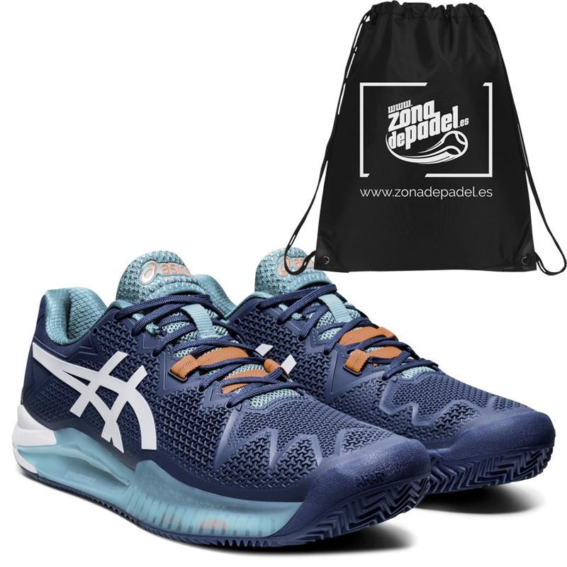 Asics Gel Resolution 8 Clay Mako Blue White 2020