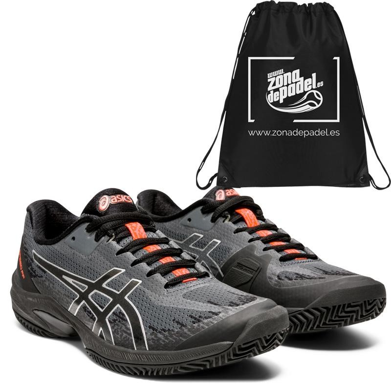 Asics Gel Court Speed FF Clay L.E. Woman Black Sunrise Red 2020