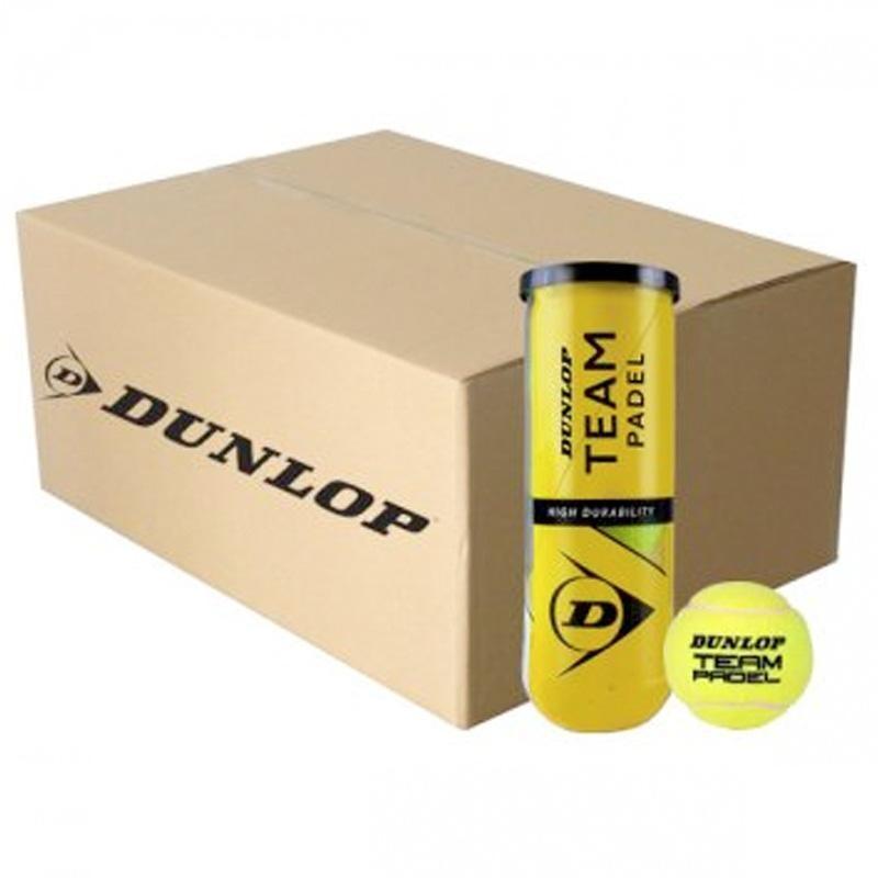 Cajón Pelotas Dunlop Team Padel 24 x 3 Unidades