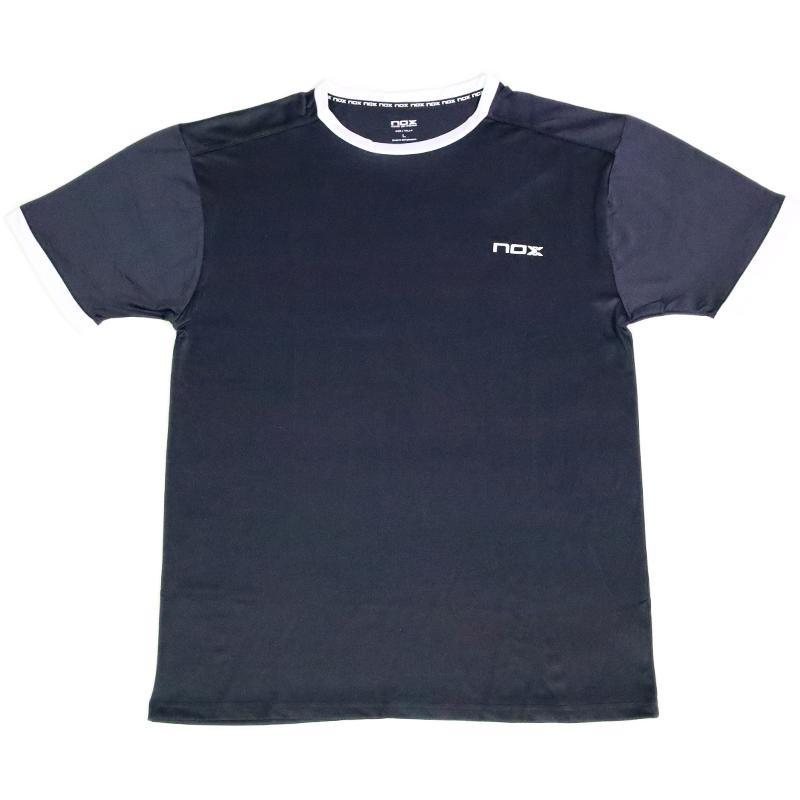 Camiseta Nox Team Plomo Logo Blanco