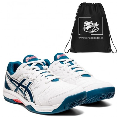 AsicsAsics Gel Dedicate 6 White Mako Blue 2021
