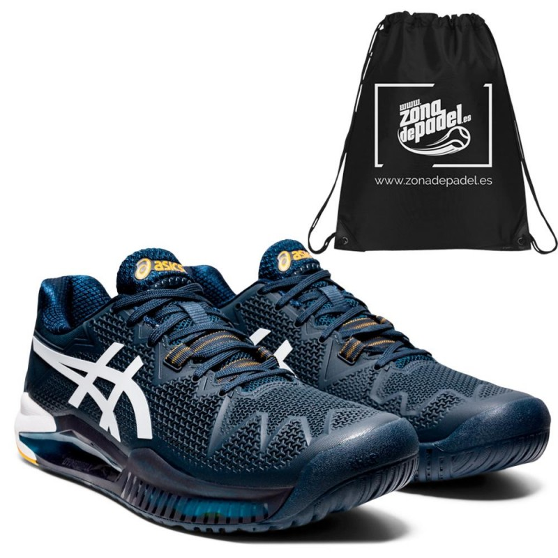 Asics Gel Resolution 8 Clay French Blue White 2021