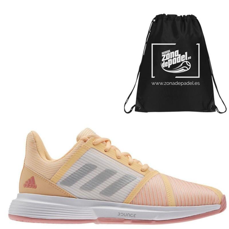 Zapatillas Adidas CourtJam Bounce W Acid Orange Silver 2021