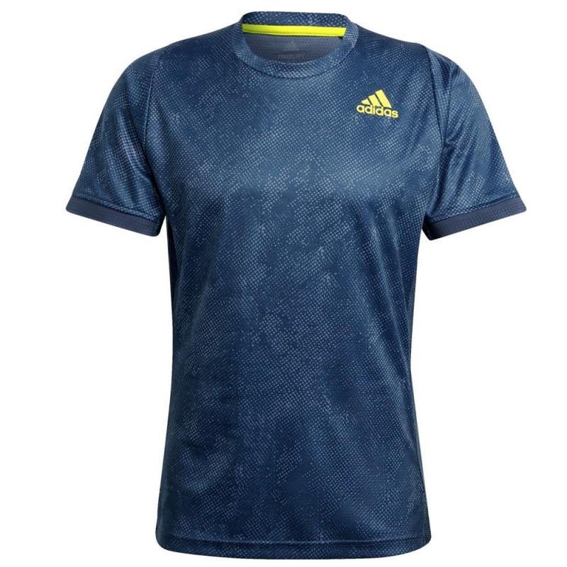 Camiseta Adidas FLFT PB HR Crew Navy Acid Yellow