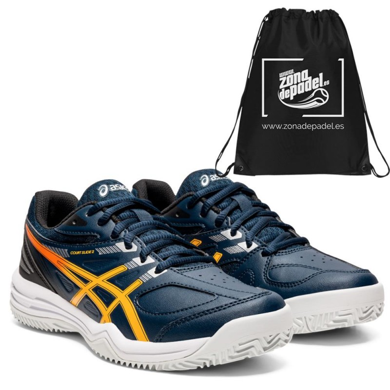 Asics Court Slide 2 Clay GS French Blue Amber 2021