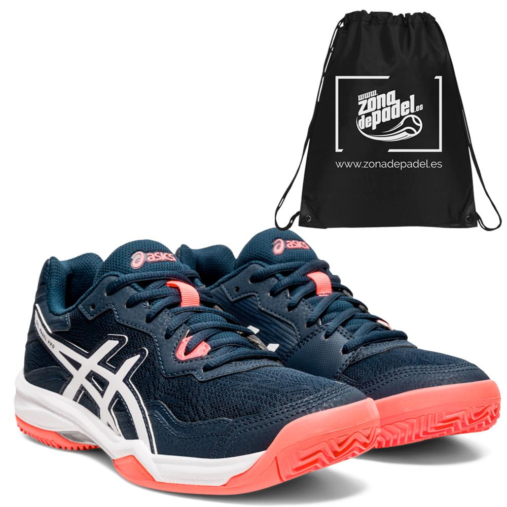 Asics gel padel pro 4 woman french blue coral 2021